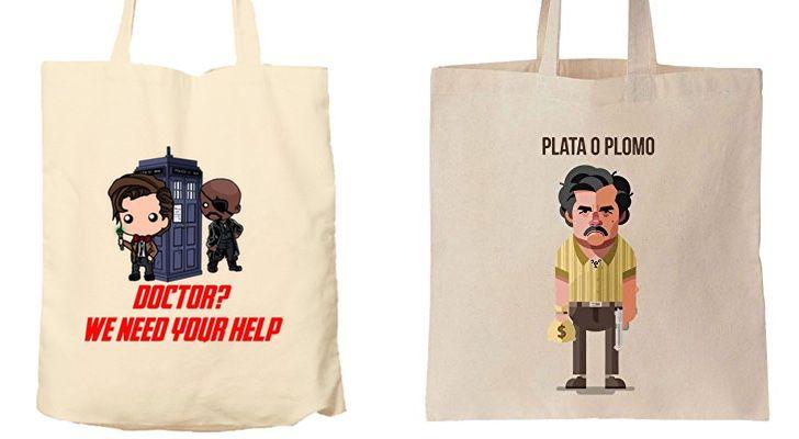 7 bolsas de telas inspiradas en series para regalar en Navidad