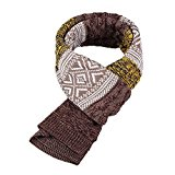 Bufanda de Hombre la tela escocesa cozy Lana Abrigo Del Mantón cuello bufanda Regalos para Hombre unisexo (amarillo)