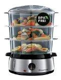Russell Hobbs Cook@Home 19270-56 - Vaporera (800 W, Cocina Lenta, Sin BPA, Acero Inox, Capacidad para 9 litros)