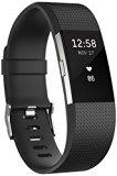 Fitbit Charge 2 Pulsera de Actividad física y Ritmo cardiaco, Unisex, Negro, L