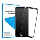 S8 Protector de Pantalla, Protector Cristal Templado para Samsung Galaxy S8 (5,8 Pulgadas) de Bordes Curvados 3D 9H HD Vidrio Templado [Anti-rasguños, Cubierta Completa]