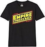 FIND Camiseta de Star Wars, Empire Strikes Back, para Hombre, Negro (Black), Small