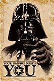 Empire Interactive - Póster de Star Wars (con artículo Adicional), diseño de Darth con Texto Your Empire Needs You