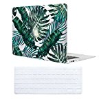 Fundas para macbook air 13 Case , iCasso Palm Leaf Pattern Ultra Delgado Slim Dura Rígida Snap On Plástico Proteccion Matte anti-polvo de Protector Hard Cover Para MacBook Air 13