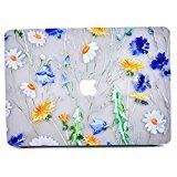 Funda MacBook Air 13, L2W Patrón de diseño Floral Brillante Matte Transparente Funda Funda Transparente para Apple MacBook Air 13 Pulgadas (Modelo: A1369 y A1466) - Ver a través del patrón Floral W
