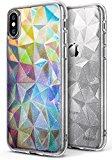 Ringke Funda iPhone X [Air Prism Glitter] 3D Ligero Bling Elegante patrón de protección TPU Funda para Apple iPhone X - Transparente Brillo Glitter Clear