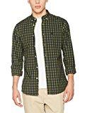 Springfield Cuadros, Camisa Casual para Hombre, Verde (Green), Large (Tamaño del Fabricante:L)