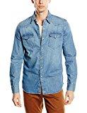 Levi's L/S Barstow Western Shirt, Camisa Casual de Manga Larga para Hombre, Azul (Red Cast Stone), Large