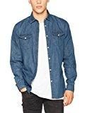 JACK & JONES Jornew One Shirt LS Noos, Camisa de los Pantalones Vaqueros para Hombre, Azul (Dark Blue Denim Fit:Slim), Medium