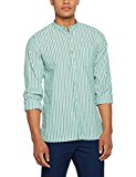 Springfield FE Dobby Stripe, Camisa Casual para Hombre, Verde (Green), (Tamaño del Fabricante:M)