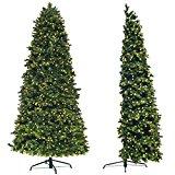 Árbol de Navidad Artificial de pared Premium | Medio árbol para ahorrar espacio | Luces LED (500 unidades) ya instaladas| 2,1 M Entero o 1,5 M Sin parte baja, más de 1200 puntas de púa de PE, y piñas naturales |The StartUp....