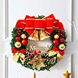 30cm Guirnalda de Navidad,GZQES, Hermosas Agujas de Pino, Corona de Puerta de Navidad (Vario color)