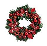 Holacha Corona de Navidad Corbatín Fiesta Accesorios de Puerta de Ventana Clásico Decoración del Hogar (B)
