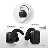Rokoo Auriculares sin hilos de 1Pc Auriculares Bluetooth con micrófono manos libres llamadas estéreo auriculares deportivos para iPhone iPad teléfonos Android