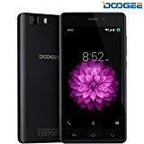 Moviles Libres, DOOGEE X5 Smartphone Libre sin Bloqueo de SIM (5 Pantalla HD IPS, MT6580 Quad Core, 5MP Cámara, 8GB ROM, Android 6.0, Bluetooth 4.0, 3G Dual SIM Móvil) - Negro
