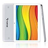YUNTAB K107 Quad-Core Tablet 10.1 Pulgadas 3G+WiFi Dual SIM Android 5.1 3G Tablet PC Yuntab HD 1280 X 800 IPS,16GB 3D Juegos Google Play Store Youtube Netflix (Plata)