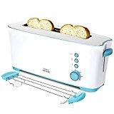 Cecotec Tostadora Toast&Taste 1L. 1000 W, Capacidad para dos Tostadas, Ranura XL, 7 Posiciones de Tostado, Función Descongelar y Función Recalentar, Incluye soporte para panecillos y bollería