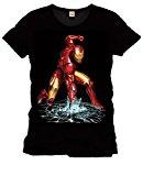 Iron Man - Camiseta Superhéroe Marvel Comics - Negra - XL