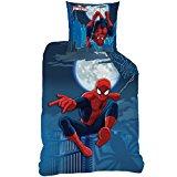 Spiderman–Funda de edredón (140x 200) + funda de almohada (63x 63)–Juego de cama Moonlight
