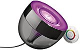 Philips LivingColors Iris - Lámpara de mesa LED, luz de ambiente, 16 millones de colores, color negro