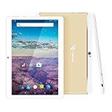 Yuntab K17 Tablet táctil IPS 10.1 Pulgadas 3G WiFi PC Aleación Metal atrás Quad-Core Android 1GB + 16GB Dual SIM Card Slots,GPS,WiFi,Youtube Netflix,Batería 5000Mha(Oro)sin Cargador