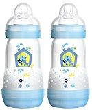 MAM Babyartikel 99921511 - Kit biberon (2 unidades), color azul, 260 ml