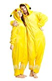 Carnaval de Halloween traje de los pijamas de Pokemon Pikachu adultos