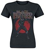 Black Panther Red Circle Camiseta Mujer Negro XL