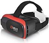 Bnext Gafas VR Compatible con iPhone y Android, Gafas Realidad Virtual para Movil - Disfruta de los Mejores Juegos y Videos RV, 360 y 3D, de Máxima Calidad y con la Mayor Comodidad (Red)