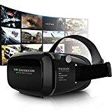 3D VR Gafas 3D VR Casco Realidad Virtual Ajustable 3D y Juegos de Vídeo Compatible con iPhone 7/6S/6 Plus/6/5S/5 C/5 Samsung Galaxy S5/S6/Note4/Note5 3.5-6.0 Pulgada Teléfonos Inteligentes (VRD01)