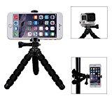 Fotopro RM-95-N - Mini trípode Flexible, con Soporte para móvil y cámaras, Color Negro