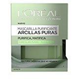 L'Oreal Paris Dermo Expertise - Arcillas puras mascarilla purificante y matificante, color verde - total 50 ml