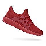 QANSI Mujer Zapatos Deportivos de Gimnasia Zapatillas de Deporte al Aire Libre para Mujer Rojo 40