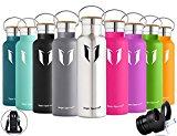 Super Sparrow Botella Agua Acero Inoxidable - Botella Agua Niños - 350ml/500ml/620ml/750ml/1L - Botella Termica Boca Estándar - Sin BPA , para Niños & Adultos, Deporte, Oficina, Yoga, Ciclismo
