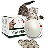 juguete gato luz?juguete gato bola?juguete gato ball?Juguete gato para Animales Pet Mascotas Perro Gato, Pet Ball Juguetes, Bola Interactiva para Mascotas Jugar Ejercicio-Bola de luz giratoria electrónica LED (rojo) [9 baterías ]