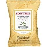 Las abejas de Burt faciales Toallitas de limpieza con extracto de té blanco (paños de limpieza facial con extracto de té blanco), 30 Count