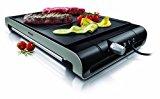 Philips HD4419/20 - Plancha de Asar, 2300w, Doble superficie, Antiadherente, Apto Lavavajillas, Color Negro