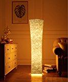 lvyuan Lámpara de Pie Moderna Bombilla LED incluida para la Decoración de la Sala de Estar 26x26x132cm Enchufe europeo