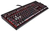 Corsair Strafe - Teclado mecánico Gaming (Cherry MX Brown, retroiluminación LED roja, QWERTY Español), Negro