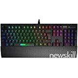 Newskill Hanshi Spectrum - Teclado mecánico gaming RGB, (Estructura metalica, reposamuñecas removible, efectos RGB,