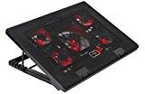 Mars Gaming MNBC2, Base PC, 5 Ventiladores, LED Roja, 2 x USB 2.0, 17.35