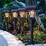 Lights4fun Conjunto de 4 Lámparas solares de LED de Estilo Barroco con estaca