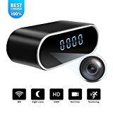WiFi Spy cámara oculta reloj   Full HD 1080P   Videocámara inalámbrica pequeña en tiempo real   Detección de movimiento con visión nocturna de ángulo de 150 °   Cuidados domiciliarios en el hogar