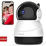 2021 Versión Victure 1080P Cámara Vigilancia WiFi Interior, Visión Nocturna, Detección de Movimiento y Sonido, Audio de 2 Vías