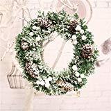 OHQ Guirnalda Corona De OtoñO 30 Cm Cono De Pino De Navidad Corona De Copo De Nieve Puerta Adorno De Pared Guirnalda DecoracióN