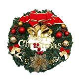 Ruikey 30cm Corona Navideña Guirnalda de la Navidad Decoraciones caseras Decoraciones de la Navidad Guirnalda Navidad Decoración para Puerta