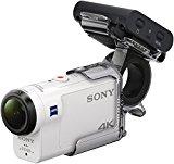 Sony FDRX3000R Kit de Cámara Action Cam 4K y Grip para Dedo AKAFGP1, Blanco/ Negro