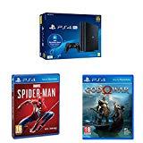 Playstation 4 Pro (PS4) - Consola de 1TB + 20 euros Tarjeta Prepago (Edición Exclusiva Amazon) + Marvel's Spider-Man (PS4) + God of War - Edición Estándar