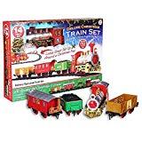 Tren de lujo del árbol de navidad con un sonido realista