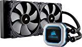 Corsair Hydro Series H115i PRO Refrigerador Líquido de CPU, Radiador de 280 mm, Dos Ventiladores PWM de 140 mm Serie ML, Iluminación RGB, Compatible con Intel 115x / 2066 y AMD AM4, Negro